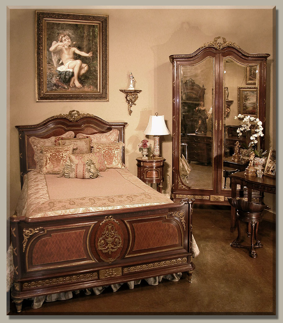 Antique furniture bedroom -  Com Picture On Antique French Style Bedroom Furniture With French